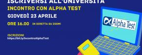 Iscriversi all'Università: incontro con Alpha Test in diretta su Zoom
